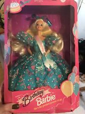 1993 Birthday Barbie Doll Blue Gown w Sash 11333 Prettiest Present of All Nib