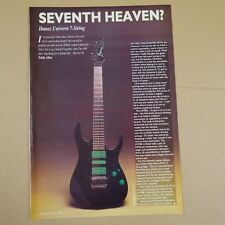 vintage 8x11 magazine cutting IBANEZ UNIVERSE 7 STRING review , 1990 , 2 sides