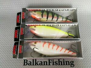 Rapala Super Shad Rap SSR-14 lot of 3  SPECIAL NP+CG+SFC colors EXTREMELY RARE