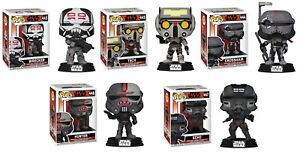 Funko Pop! Star Wars Bad Batch Set of 5: Crosshair, Echo, Hunter, Tech & Wrecker