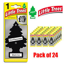 Little Trees Air Freshener Car Home Office Black Ice Scent Hanging PACKS OF 24