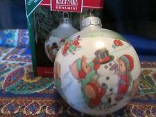 Hallmark Betsey Clark Home for Christmas Keepsake Glass 1991 Ornament