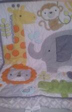 """Target Circo Snooz'n Safari Crib Quilt neutral colors 33"""" x 42"""""""