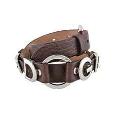 Dolce Gabbana Brown Pebbled Leather Ladies Belt BC1572A186480048
