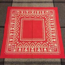 Old Swedish Christmas Red Angle Tablecloth Table Cloth