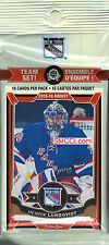 New York Rangers 2015 2016 O Pee Chee Hockey Factory Team Set Henrik Lundqvist
