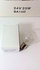 1 Pcs SIRENA S.p.A Lamp BA15D 24V 25W Incandescent Bulb Color Clear New