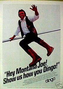 1983 Joe Montana San Francisco 49ers NFL Pro Football Memorabilia Dingo Print Ad