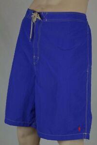Ralph Lauren Royal Blue Swim Board Shorts Trunks Orange Pony NWT 4XB Big