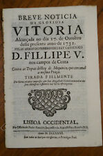 1732- Rare account of the Spanish battle of Ceuta- Spain Morocco North Africa