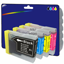 1 Set of Compatible Printer Ink Cartridges for Brother DCP-135C [LC970]
