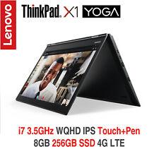 ThinkPad X1 Yoga i7 3.5Ghz WQHD IPS 8GB 256GB NVMe 4G LTE 2Y OS+ADP Warranty
