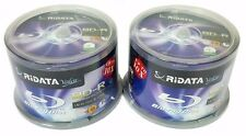 100 RIDATA Valor Blank BluRay Up to 10X Blank BD-R 25GB White Inkjet Printable
