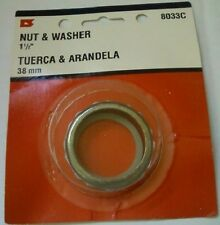 """P-Trap Metal Slip Joint Nut and Washer 3 sets 1 1/2"""" New Chrome 8033C"""