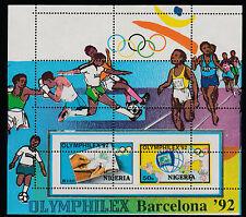 Nigeria (297) 1992 Olymphilex m/sheet MAJOR  PERF  ERROR unmounted mint