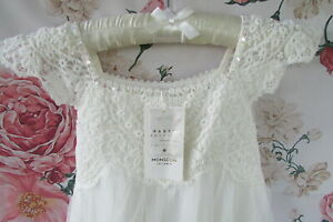 NWT Ivory Cotton Estella Lace Flower Girl Party Occasion Dress Age 5 MONSOON £50