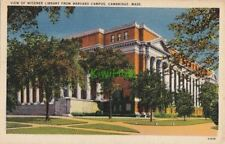 Postcard View Widener Library and Harvard Campus Cambridge MA