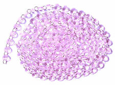 12Feet Diamond Prisms Glass Crystal Octagon Beads Wedding Chandelier Parts Pink