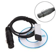 USB to DMX Lighting Computer Controller Dimmer Interface Adapter DMX512 ~