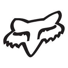 "GENUINE FOX HEAD FOX RACING STICKER WHITE 7"" WINDSCREEN CAR VINYL MX MOTOCROSS"