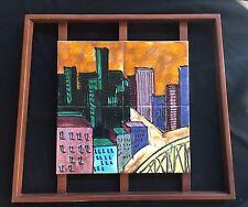 Harris Strong Tile - NY Skyline From Brooklyn Mid-Cen Modern Art
