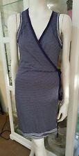 NWTS Sandwich wrap dress.Sz8.Soft cotton blend.Stylish casual.Easy fit.