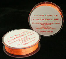 Fly Line Backing by Caimore - 100m Ultra Slim - Choice of Colour