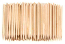 Orange Wood Sticks 100Pcs Cuticle Pusher Remover Pedicure Manicure Tool Nail Art