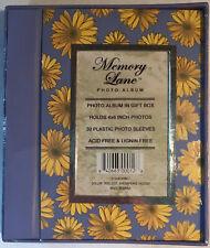 "Memory Lane ~ ""Daisies"" ~ Photo Album in Gift Box ~ 30 4X6 Inch Plastic Sleeves"
