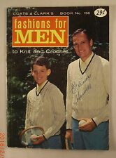 Fashions for Men To Knit & Crochet - Book 156 - Coats & Clark's - 10 Patterns