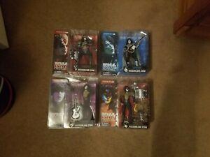 Complete Set 2002 McFarlane Toys KISS Creatures Figures in original boxes