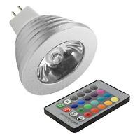 GU10 MR16 E27 E14 16 Colors Changing RGB LED Light Bulb Lamp+IR Remote Control