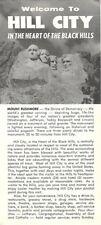 1962 Road Map Brochure HILL CITY South Dakota Monkey Island Mount Rushmore Train