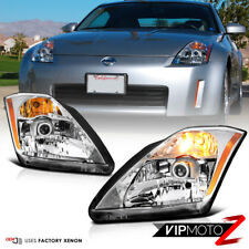 For 2003-2005 350Z Fairlady Z [Factory XENON D2R] HID Chrome Headlights Assembly