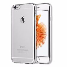 Crystal Clear Soft Silicone TPU Back Phone Case Rubber Electroplate Bumper Cover