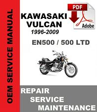 Kawasaki En500 Vulcan 500 Ltd 1996-2009 Service Maintenance Repair Manual (Fits: Kawasaki)