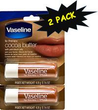 Vaseline Cocoa Butter Lib Balm Lip Therapy w/ Petroleum Jelly   0.16 Oz (2 PACK)