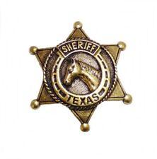 Anstecker Pin Sheriffstern Sheriff Pferd Texas Western Country Wilder Westen