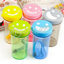 Sport Cups Mug Tea Plastic Vacuum Smiling Travel Bottle Water Coffee Insulated