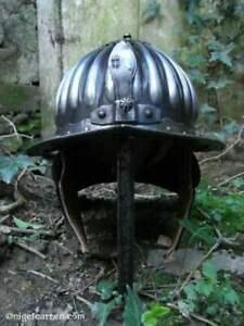 18 Gauge Steel Medieval Blackened Hussars Helmet Knight Fighting Helmet