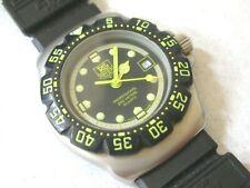 New listing TAG HEUER F1 formula 1 classic, ladies mini diver, lumina yellow/BK