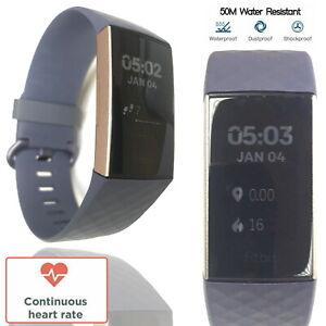 Fitbit Charge 3 Fitness Tracker Smart Watch Heart Rate Swim Run Sleep Sport Gold