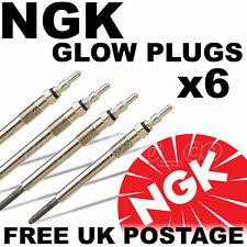 6 x NGK Diesel Heater Glow Plugs BMW E46 318d 320d 330d 1998-2007 #6897