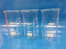 2x 400ml Borosilicate Glass Beakers, Tall-Form