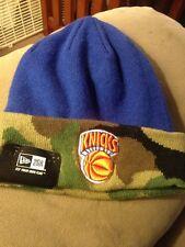 New York Knicks New Era NBA HWC Fashion Cuff Knit Beanie Camo Royal Blue Hat