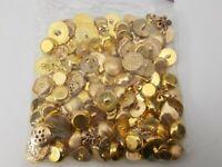 Vintage Huge Button Lot - Goldtone Mostly Shank - Plastic - Jacket Dress Clothes