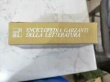 ENCICLOPEDIA GARZANTI DELLA LETTERATURA  GARZANTI 1 ED OTTOBRE 1972