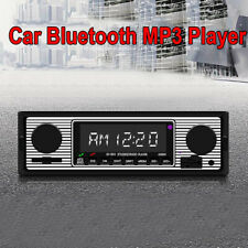 Lcd Car Mp3 Player Stereo Retro Radio Bluetooth Stereo Usb Aux Wav Accessories