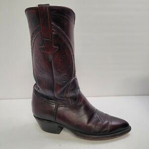 Lucchese 1883 L570924 Mens Black Cherry Cowboy Boots size 8.5 D pre-owned