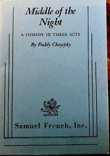 Middle Of The Night, A Comedy In Three Acts By Paddy Chayefsky, samuel French.